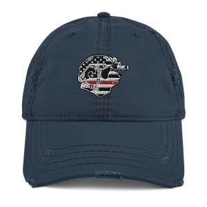 Thin Red Line Distressed Dad Hat