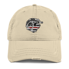 Load image into Gallery viewer, Thin Red Line Distressed Dad Hat