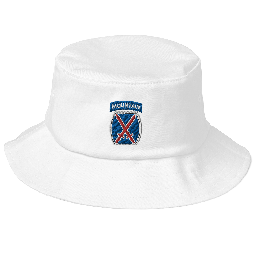10th Mountain Old School Bucket Hat
