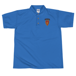 4/25th Abn Embroidered Polo Shirt