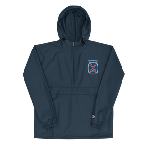 10th Mountain Embroidered Champion Packable Jacket