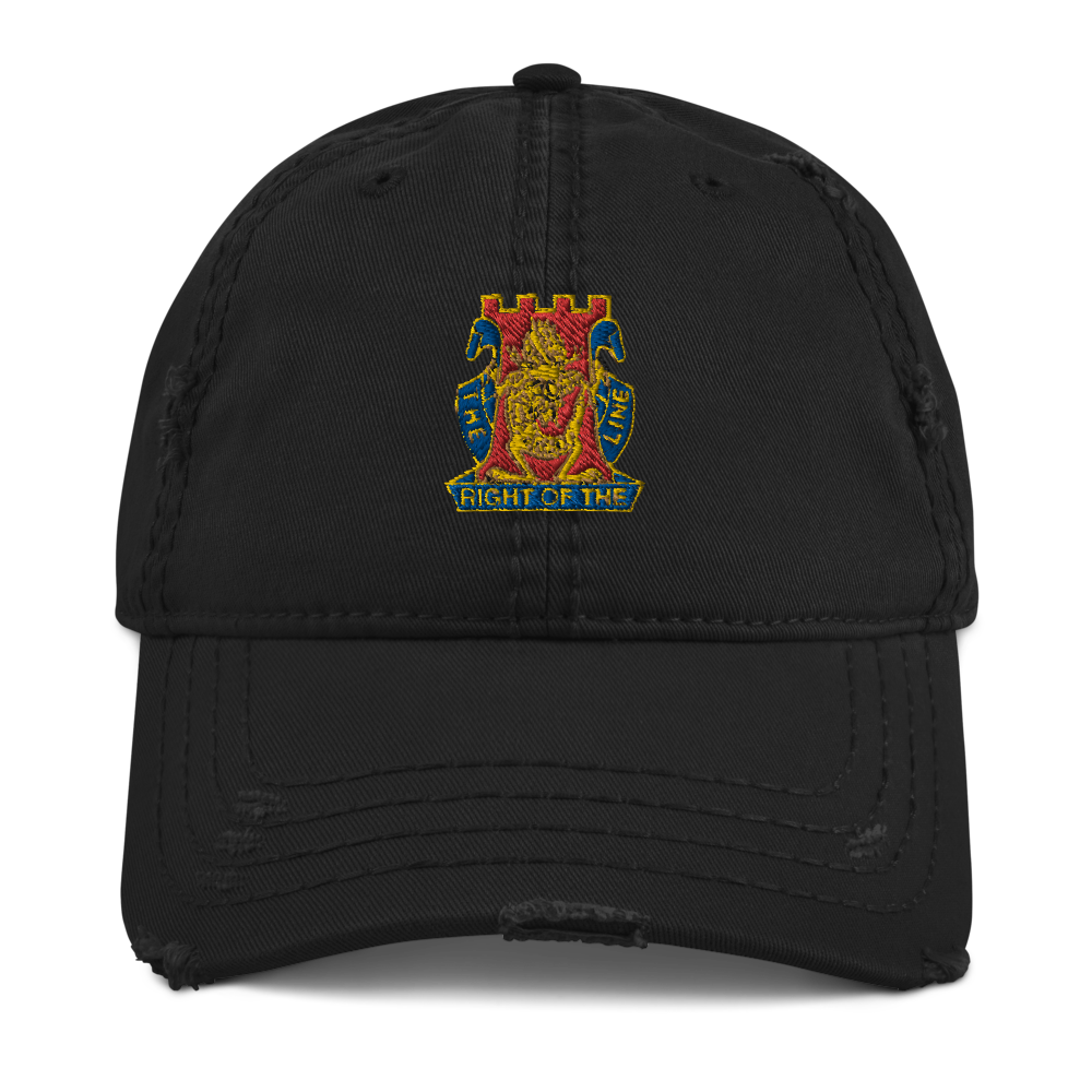Golden Dragon Distressed Dad Hat