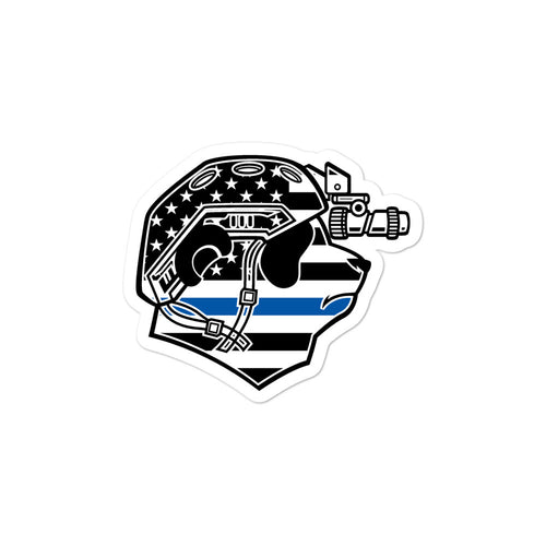 Thin Blue Line Pando Commando Bubble-free stickers