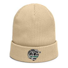 Load image into Gallery viewer, Thin Green Line Panda Organic ribbed beanie