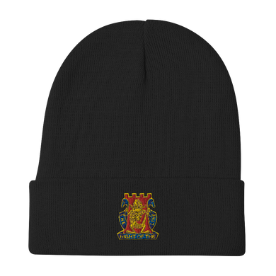 Golden Dragon Embroidered Beanie