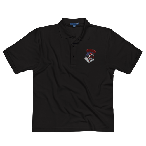 Spartan Panda Embroidered Men's Premium Polo
