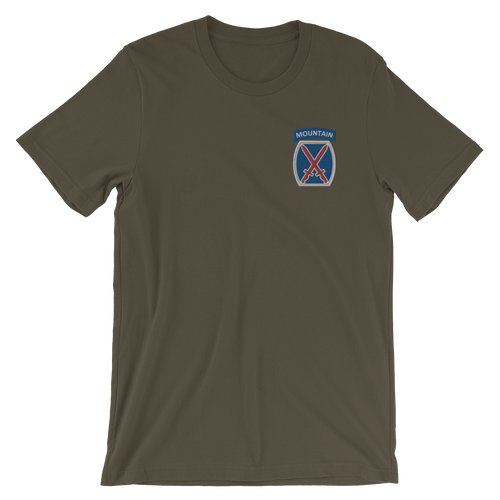 10th Mountain Embroidered Short-Sleeve Unisex T-Shirt