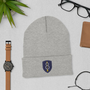 8th Infantry Division Cuffed Beanie