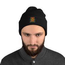 Load image into Gallery viewer, Gold Dragon Pom-Pom Beanie