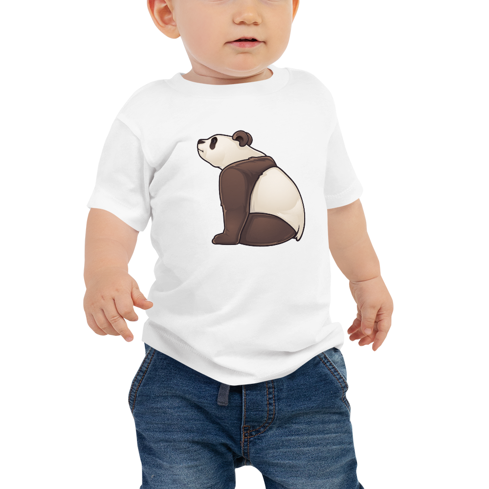 Baby Sitting Panda Short Sleeve Tee