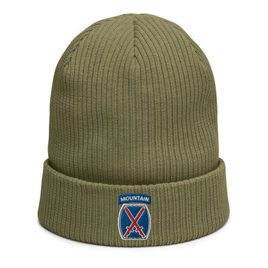 10th Mountain Organic ribbed beanie