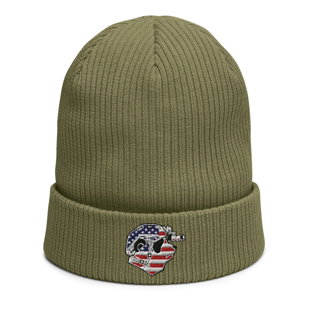 USA Pando Commando Organic ribbed beanie