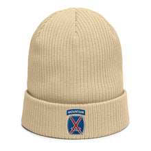 Load image into Gallery viewer, 10th Mountain Organic ribbed beanie