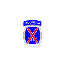 Load image into Gallery viewer, 10th Mountain Bubble-free stickers