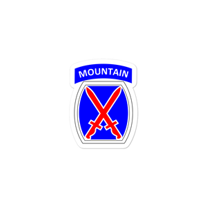 10th Mountain Bubble-free stickers