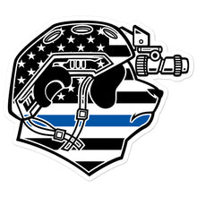 Load image into Gallery viewer, Thin Blue Line Pando Commando Bubble-free stickers