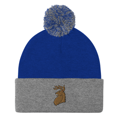 Fighting Deer Pom-Pom Beanie