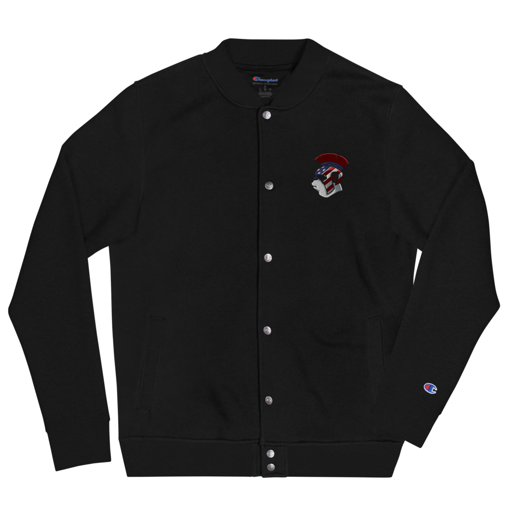 Spartan Panda Embroidered Champion Bomber Jacket