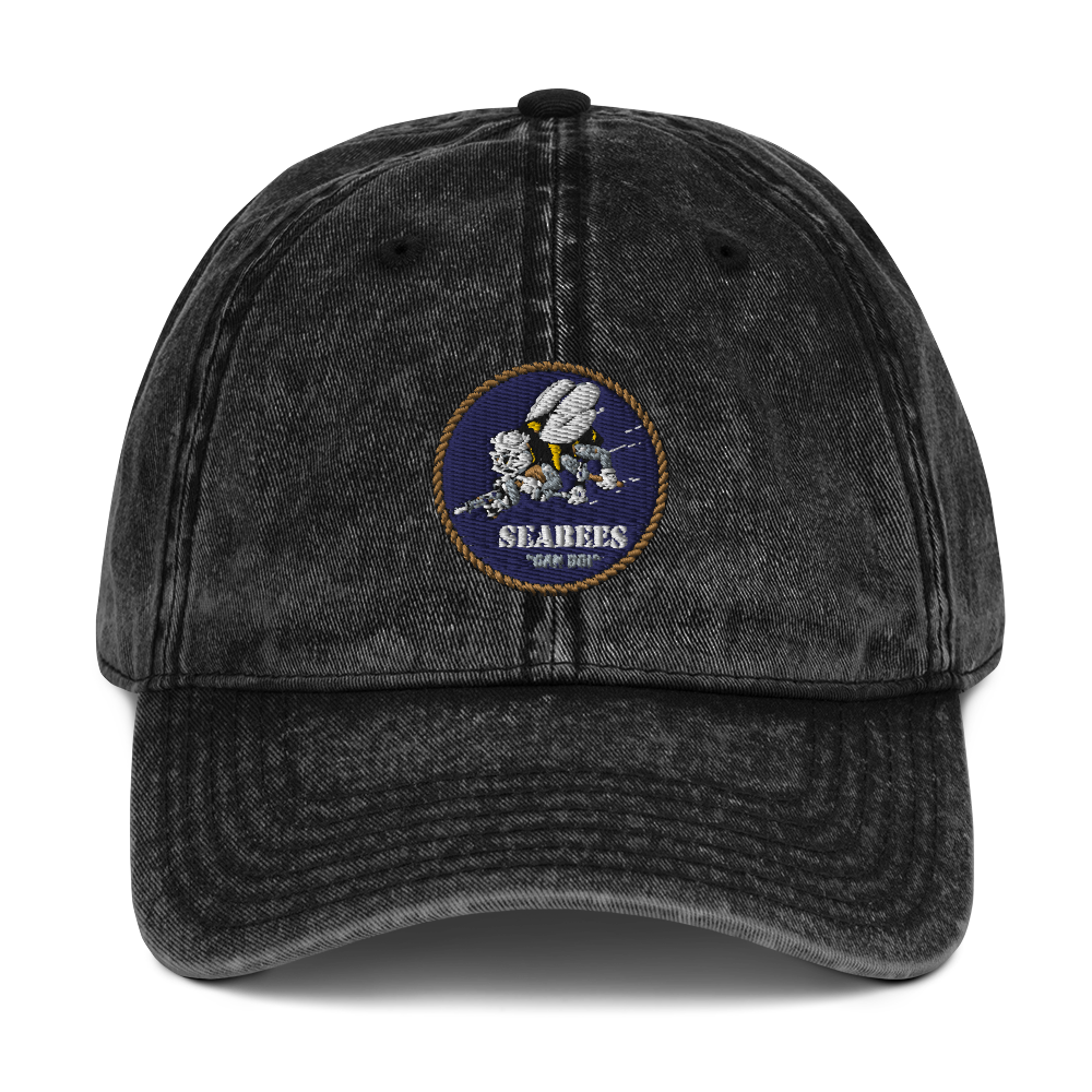 Seabees Vintage Cotton Twill Cap