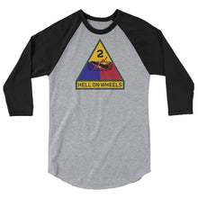 Load image into Gallery viewer, 2nd AD 3/4 sleeve raglan shirt