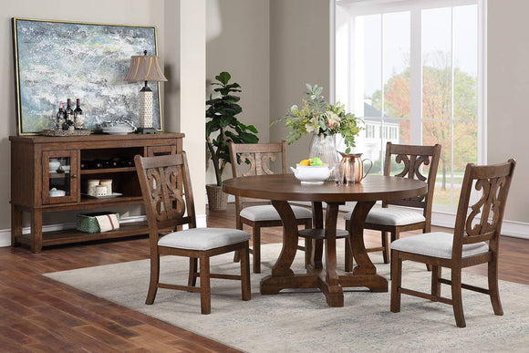 Dining table F2582 + 4 Chairs F1839 Or Server F6099