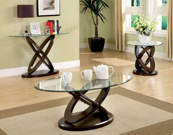ATWOOD II OVAL COFFEE TABLE +ROUND END TABLE+OVAL SOFA TABLE CM4401