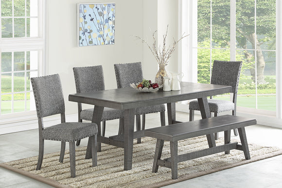 Dining Table + 4 Chairs +Bench F2480/F1773/1775