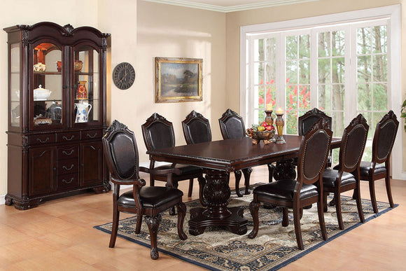 Dining Table + 8 Chairs F2182/F1395/F1396 Or Beffet/Hutch F6069