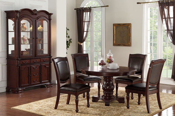 Dining Table + 4 Chairs F2187/F1395 Or Beffet/Hutch F6069