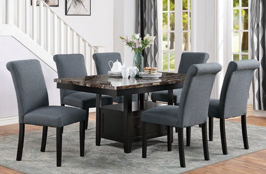 Dining Table+ 6 Chairs F2460/F1543