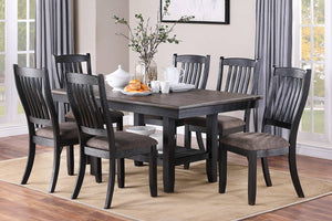 DINING TABLE DARK COFFEE + 6 CHAIRS F2438/F1808