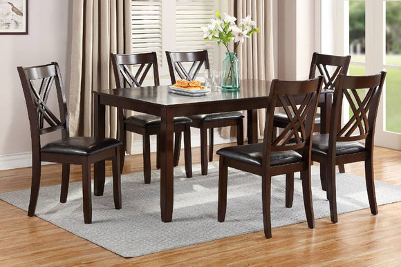 7-Pcs Dining Set Table+6 Chairs F2554