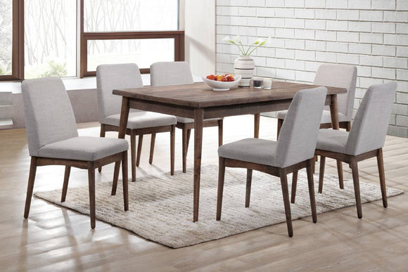 7-Pcs Dining Set Table+6 Chairs F2496/F1805