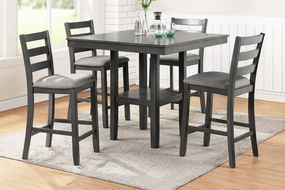 5-Pcs Counter Height Dining Set Table+ 4 Chairs F2552