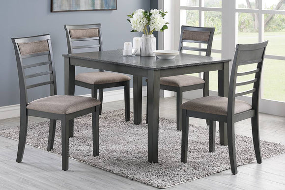 5-Pcs Dining Set Table+ 4 Chairs F2556