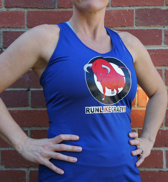 Women's Blue Running Singlet