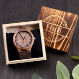 Personalized Wood Watch Anniversary Gift for Boyfriend