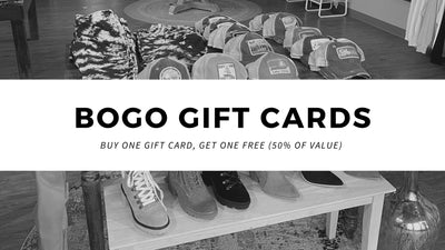 Buy 1 get 1 gift cards!