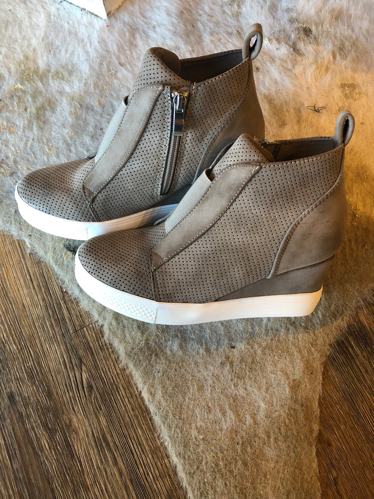 Wedge Sneakers - 2 COLORS!