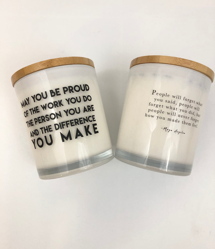 Proud Work Teacher Unplug Soy Candle