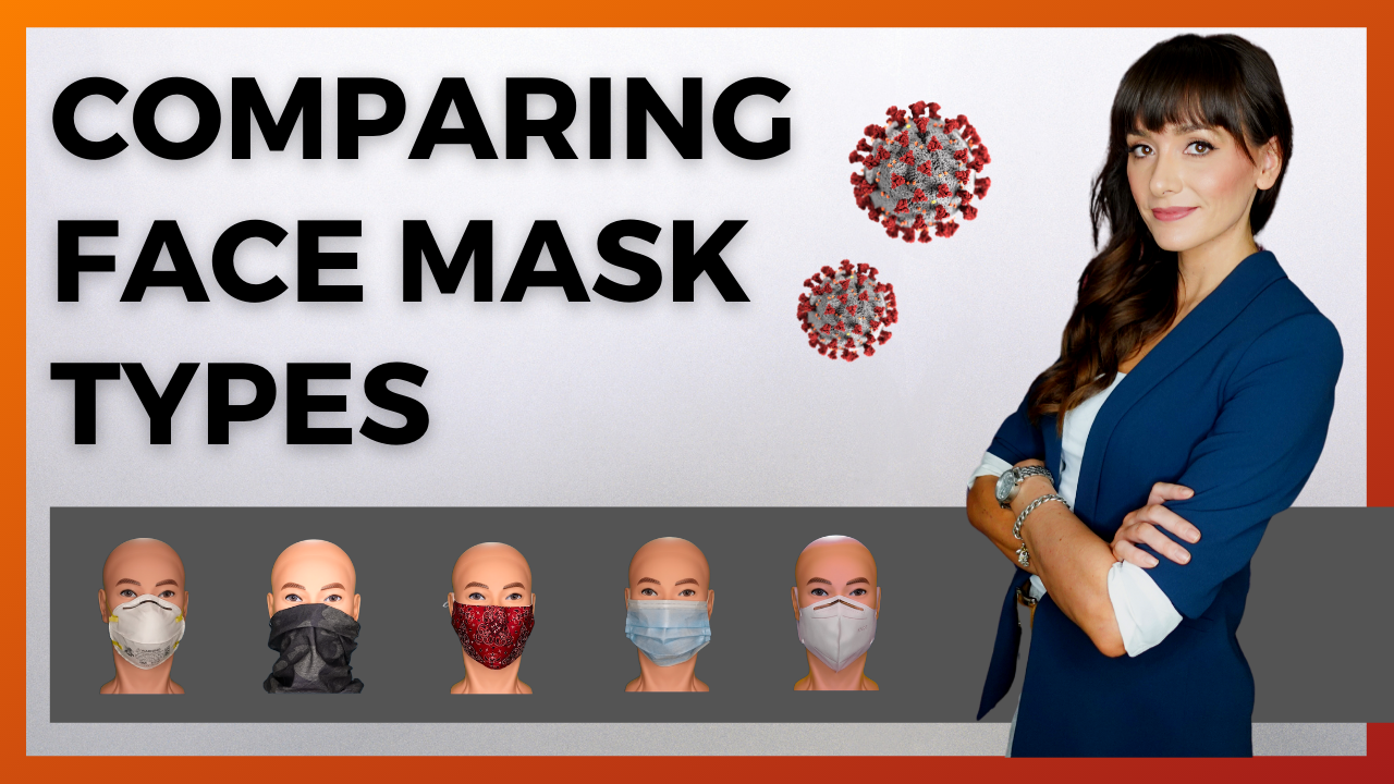 Comparing Face Mask Types | N95's, KN95's, Surgical Masks, Cloth Masks, and Gaiters