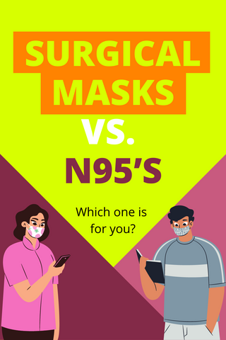 pin image surgical mask vs. n95s