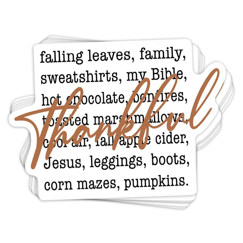 Thankful List Sticker