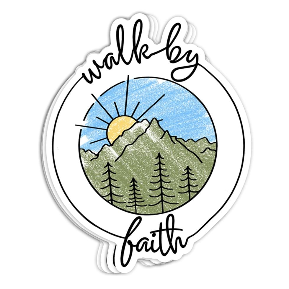 Walk By Faith Sticker