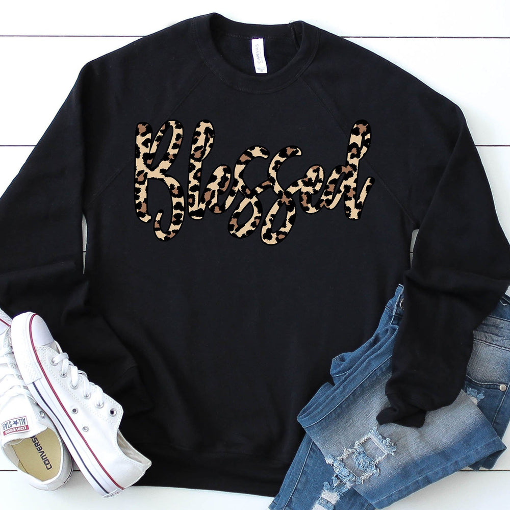 Blessed Leopard French Terry Sweatshirt