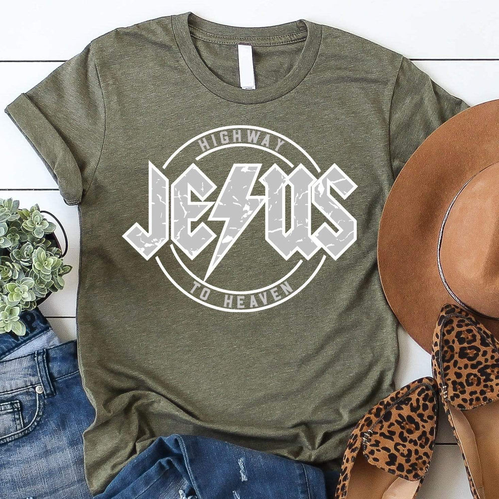 Jesus Highway to Heaven Tee