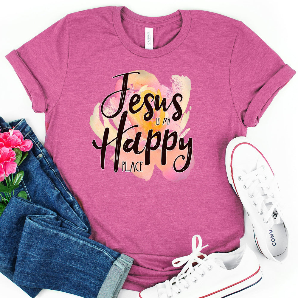 Jesus is My Happy Place Tee