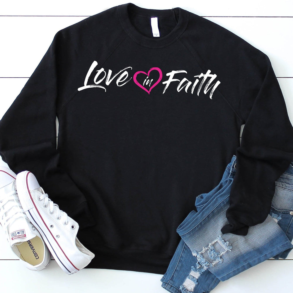 Love in Faith French Terry Crew Neck Sweater