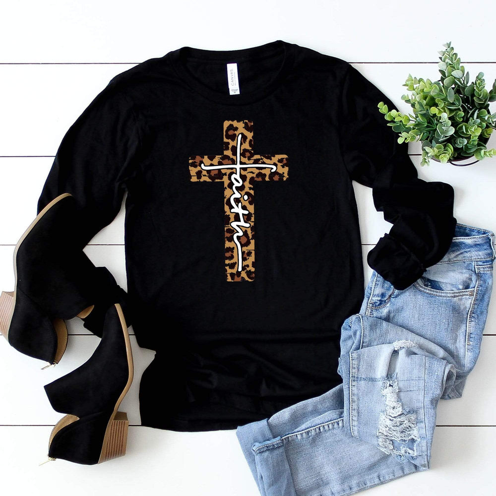 Leopard Faith Long Sleeve Tee