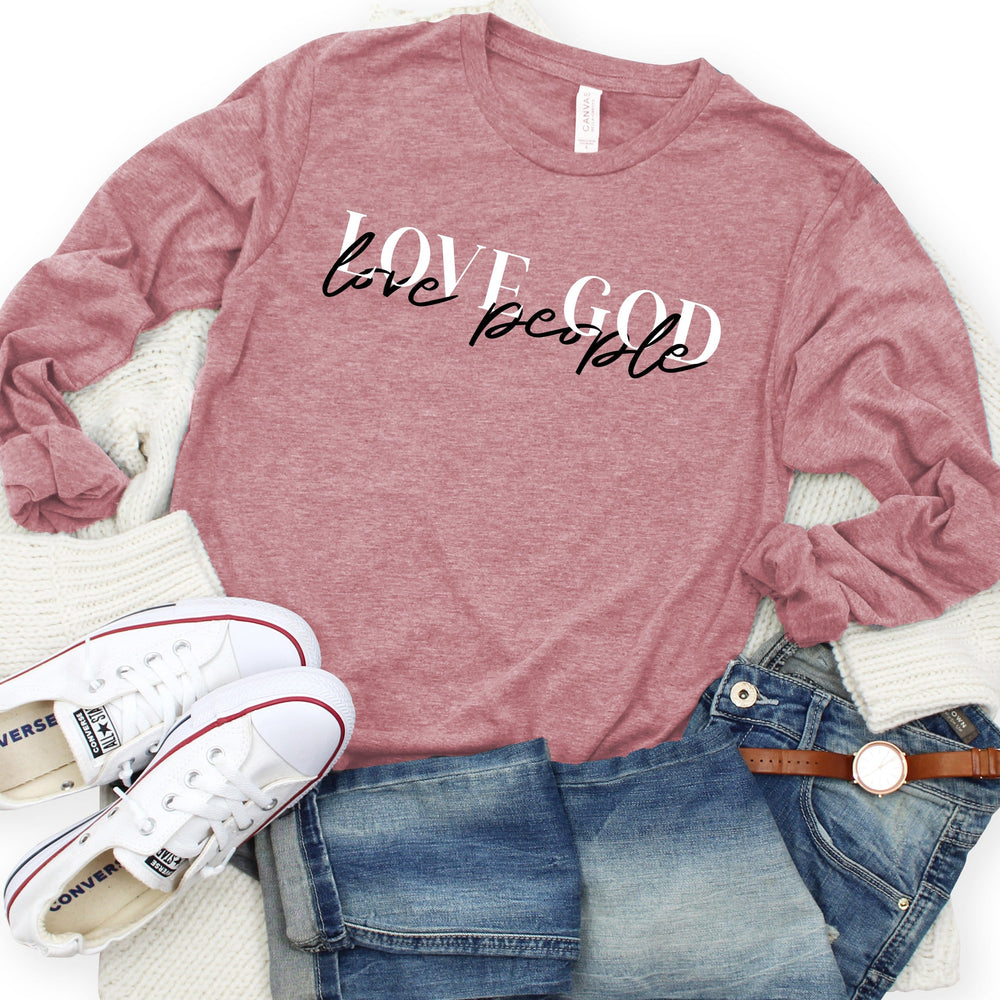 Love God Love People Long Sleeve Tee